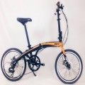 VERT V8 Aluminium Folding Bike Matt Orange