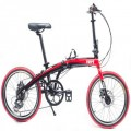 VERT V8 Aluminium Folding Bike Gloss Red