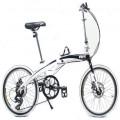 VERT V8 Aluminium Folding Bike White