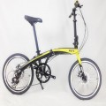 VERT V8 Aluminium Folding Bike Matt Yellow