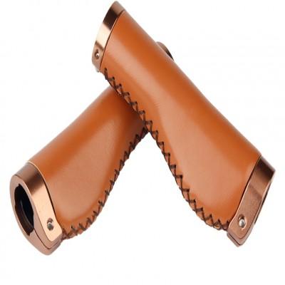 Brown Vintage Grip PU leather Ergonomic