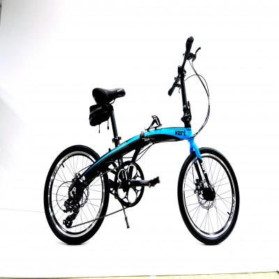 VERT V8 Aluminium Folding Bike Matt Blue
