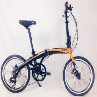 VERT V8 Aluminium Folding Bike Matt Orange ( NO STOCK)