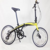 VERT V8 Aluminium Folding Bike Matt Yellow ( NO STOCK)