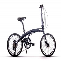 VERT V8 Aluminium Folding Bike ( Black Panther)