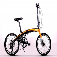 VERT V8 Aluminium Folding Bike (Bright Orange)