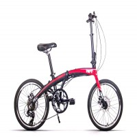 VERT V8 Aluminium Folding Bike (Red Fury)
